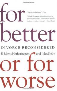 E.Mavis Hetherington and John Kelly -kirja eron todennäköisyydestä viidessä avioliiton tyypissä